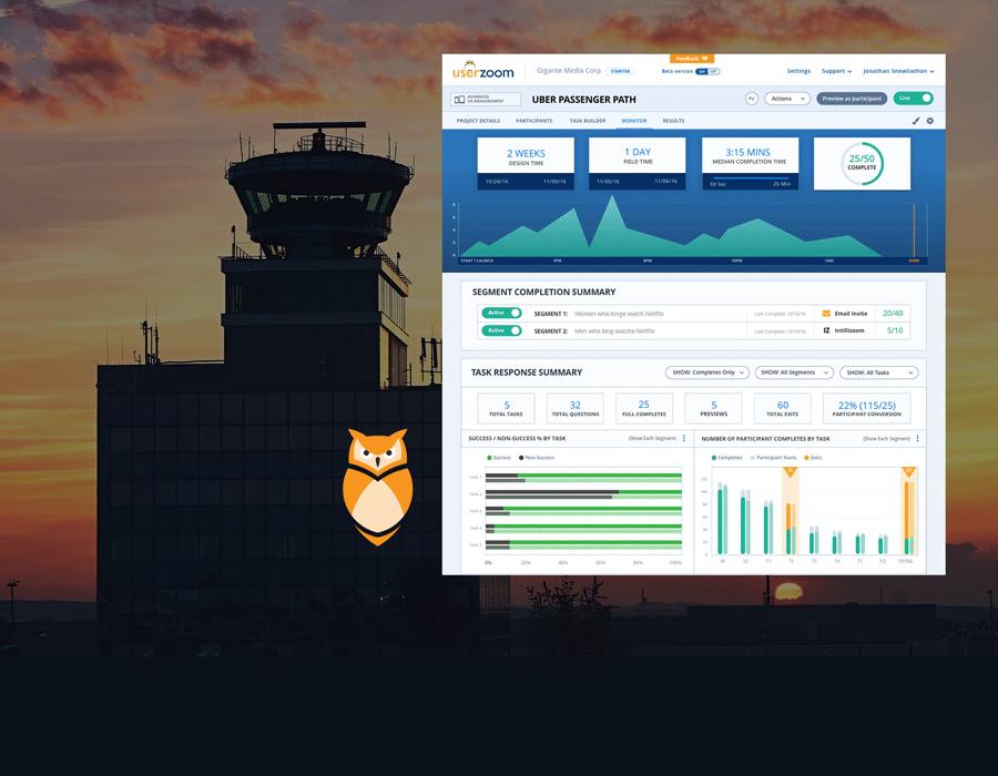 UserZoom – Monitoring Study Health